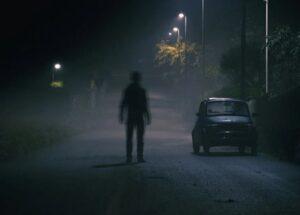 el piloto automatico de tesla grabo a un hombre invisible en un cementerio vacio