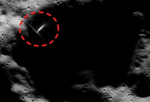 algo muy extrano fue captado en la luna
