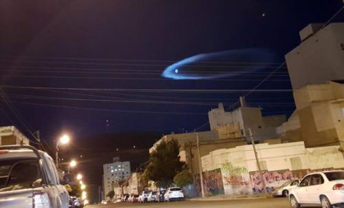 Captan enigmatico halo luminoso en Argentina: ¿nave alienigena?