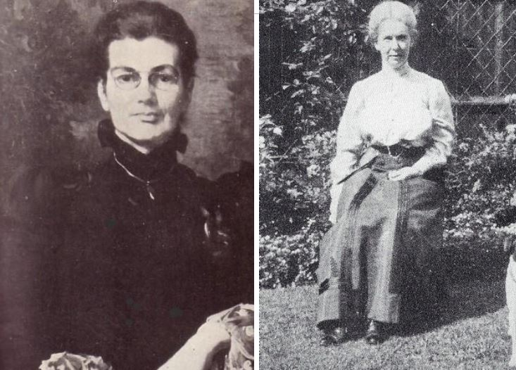 Charlotte Anne Moberly (izquierda) y Eleanor Jourdain