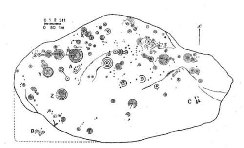 la roca gigante de 5 000 anos con intrigantes simbolos