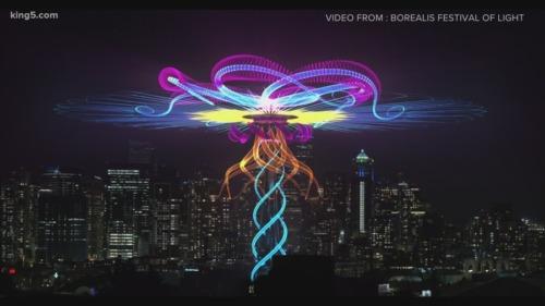 simbologia y hologramas el raro evento blue beam 2021 en seattle