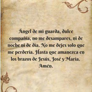 oración ángel