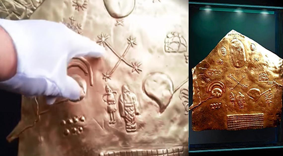 Investigadores descifran este antiguo mapa estelar de oro macizo desvelado en Perú