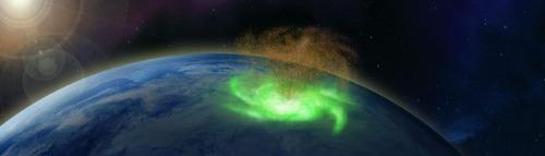 detectan por primera vez un huracan espacial sobre el polo norte