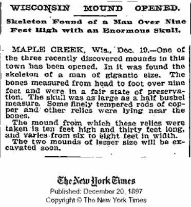 el dia que los periodicos publicaron momias gigantes halladas en el desierto