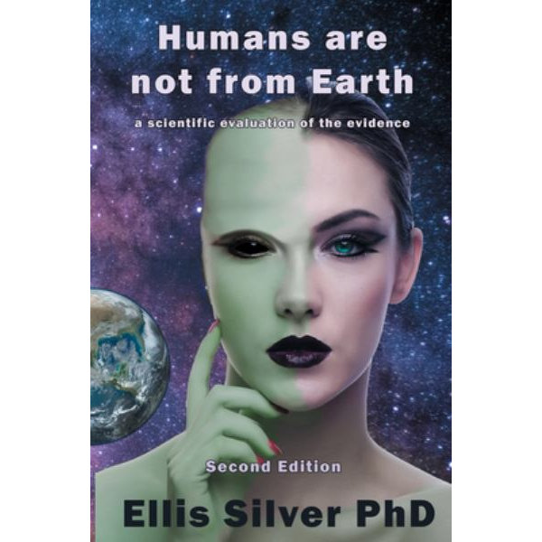 """Libro """"Humans are not from Earth"""" del autor Ellis SIlver"""