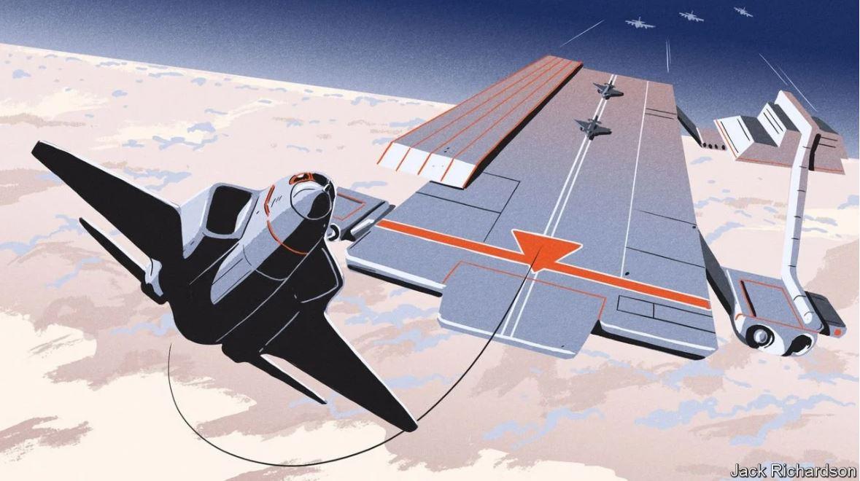 Diseño del portaaviones volador de DARPA