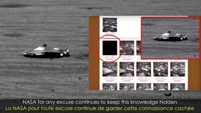 La NASA publicó y después eliminó una foto de una enigmatica nave espacial en la superficie de Marte
