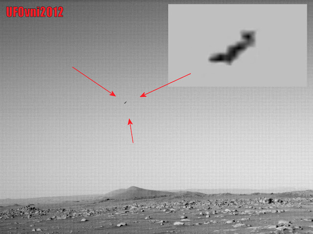 pajaro alienigena u ovni misterioso objeto volador capturado por un mars perseverance rover