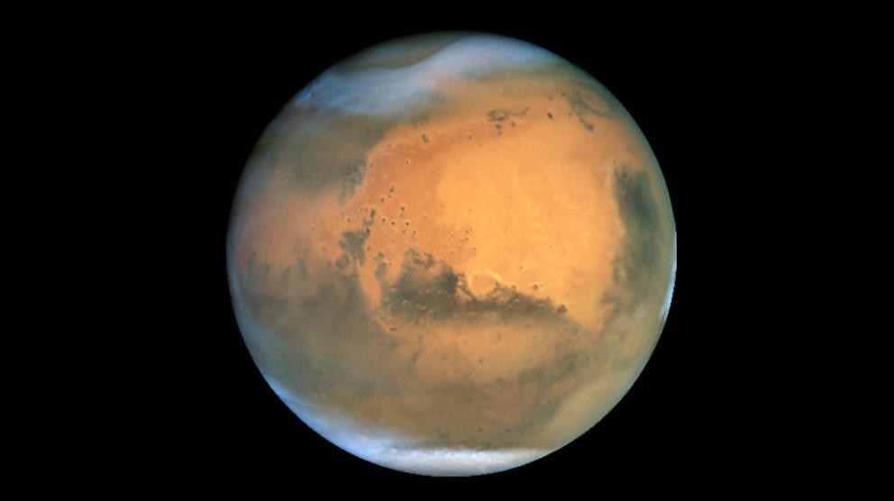 Fotografía de Marte tomada en 2001 por el telescopio espacial Hubble