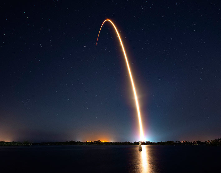 motor combustible spacex