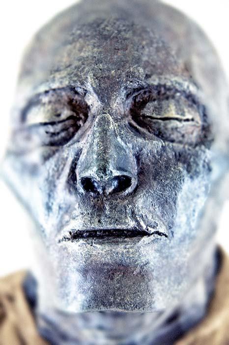 La momia egipcia antigua conservada de Seti I.